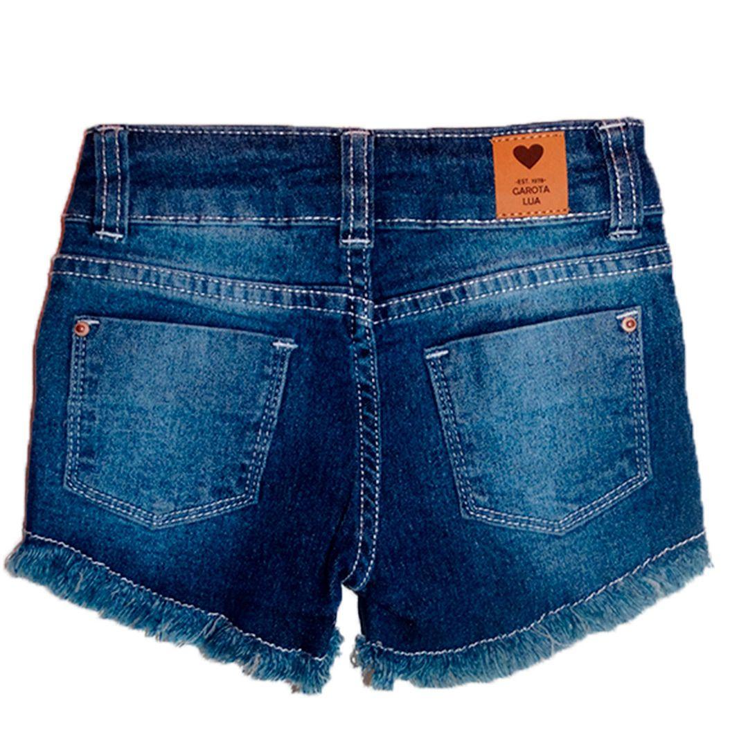 Bermuda Jeans linda Infantil Menina Shorts Manabana  Oferta  4 6 8 anos  - Manabana
