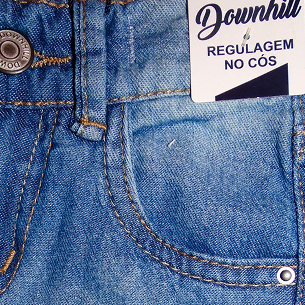 Bermuda Jeans Shorts Infantil Manabana Menino 1, 2 e 3 anos Azul   - Manabana