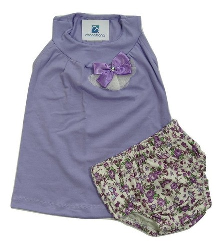 Conjunto Bebe Menina Blusinha Bata Shorts Enxoval Infantil  - Manabana