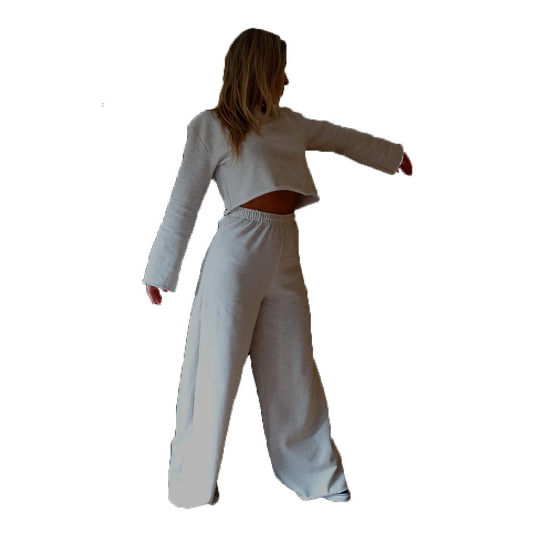 Conjunto  Blusa e Calça Pantalona de Moletom Flanelado Manabana  - Manabana