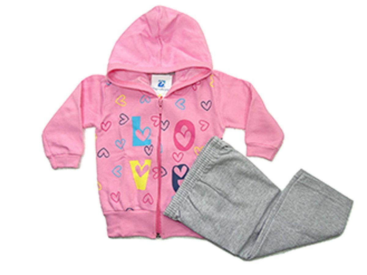 Conjunto Manabana Moletom Menina Infantil Roupa Bebe Recem Nascido  - Manabana