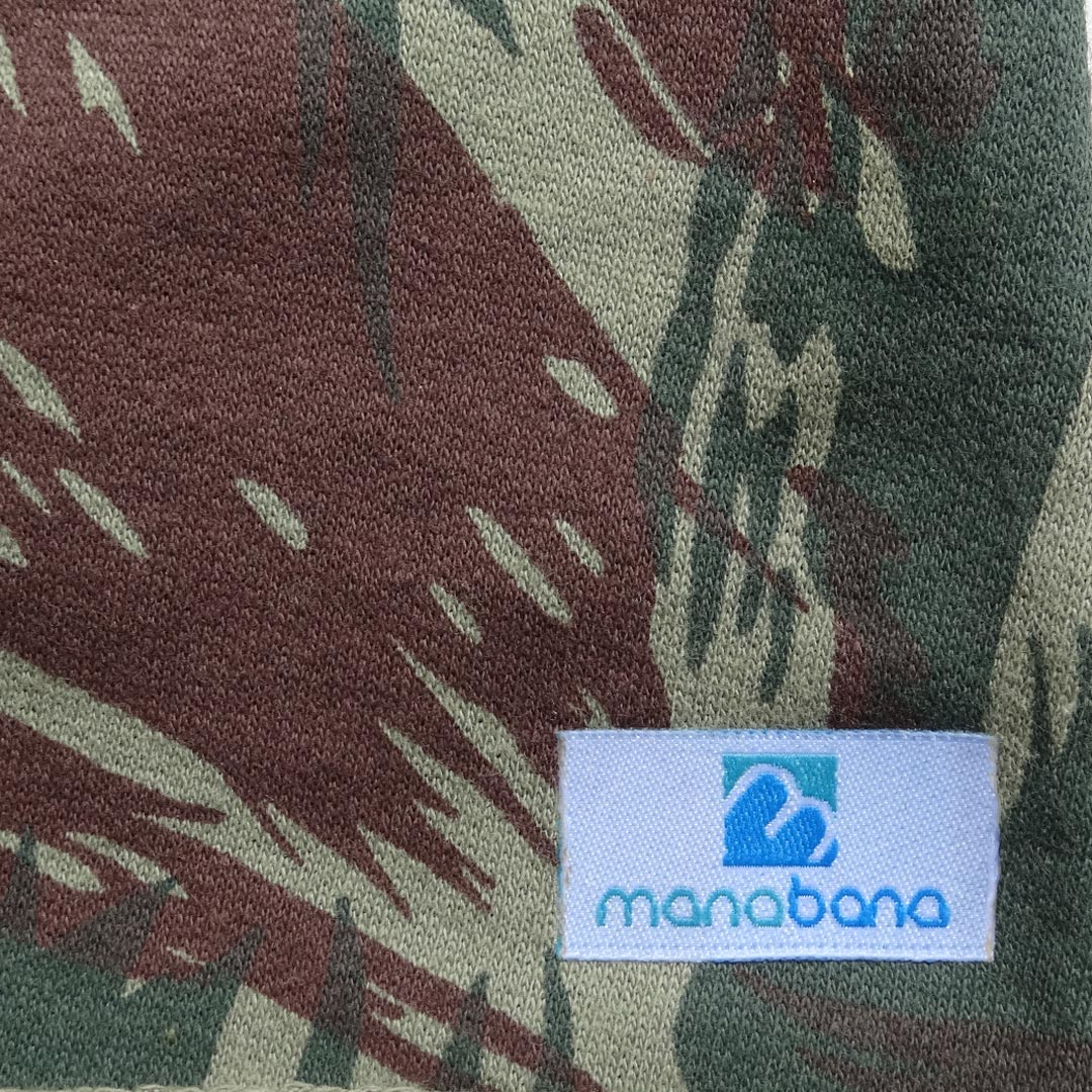 Jardineira Manabana Bermuda Shorts Curto Menina Menino Camuflado  - Manabana