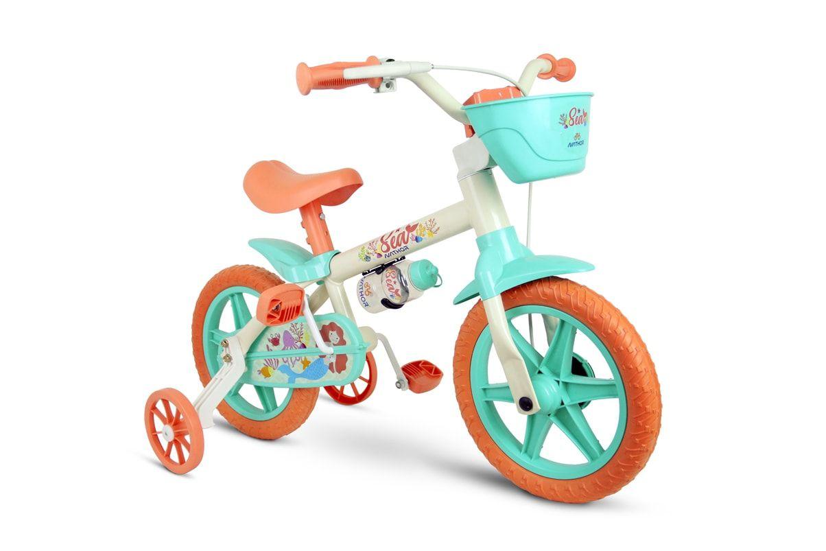 feb97ecdd Bicicleta Bicicletinha Infantil Menina Aro 12 Sea Nathor - Lojas Vettore
