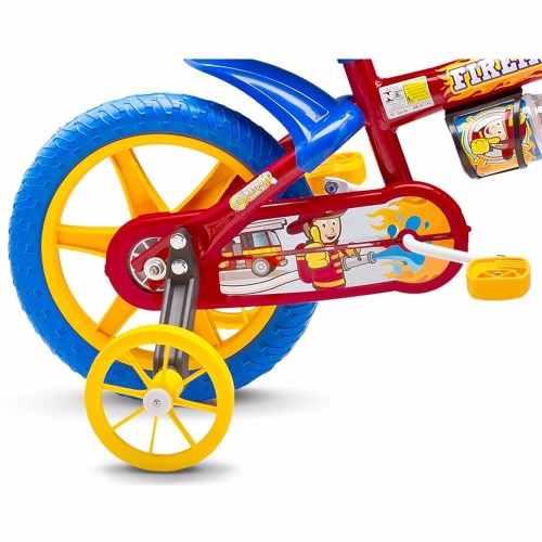 93391c3bc Bicicleta Bike Infantil Nathor Para Menino Aro 12 Fireman - Lojas ...
