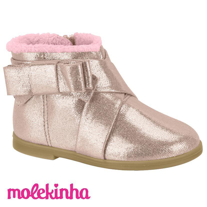 Bota Molekinha Infantil Rosa