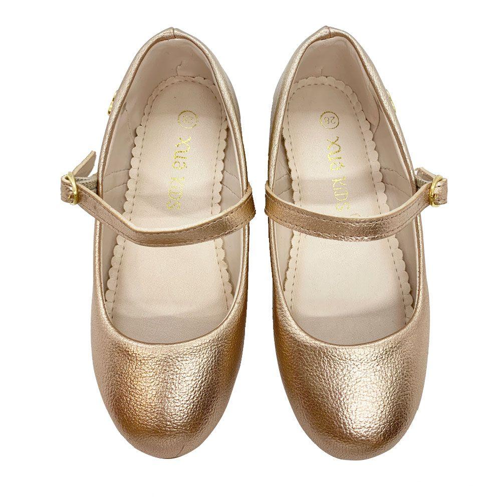 Sapato Boneca Infantil Juvenil Bronze Xuá Xuá