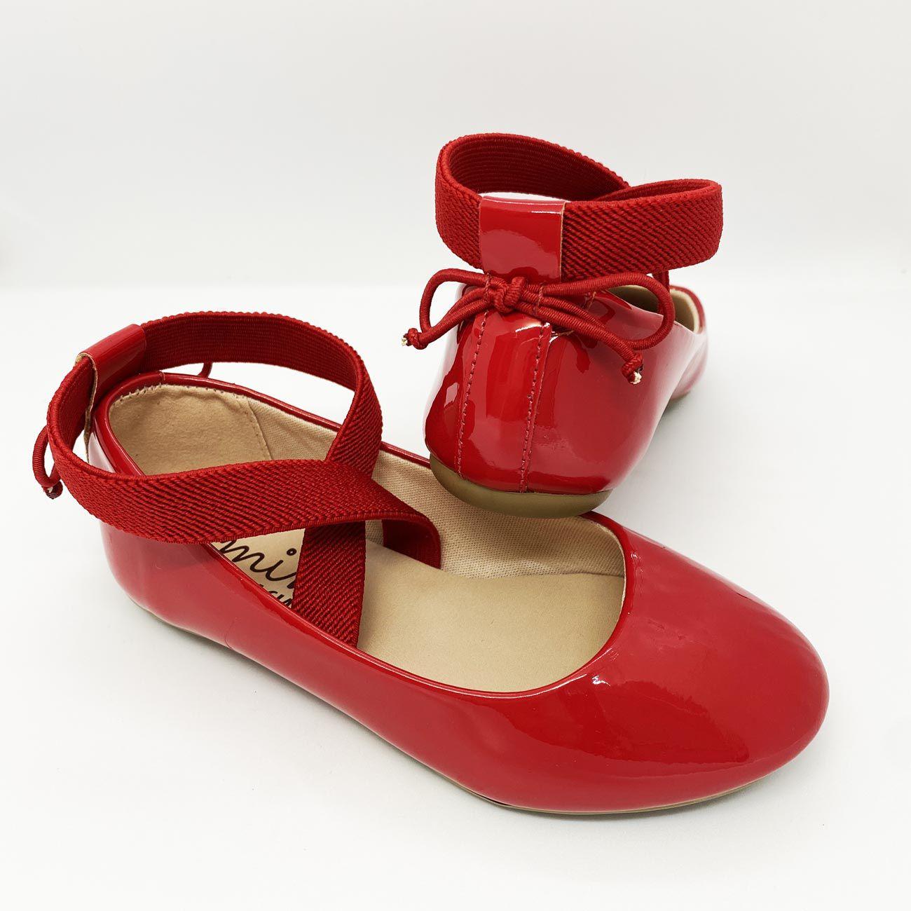 Sapatilha Infantil Feminina Vermelha Sua Cia Mini