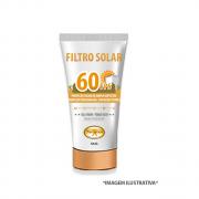 FILTRO SOLAR FACIAL FPS 60 - ANTIOXIDADANTE E ANTIAGING. 50g