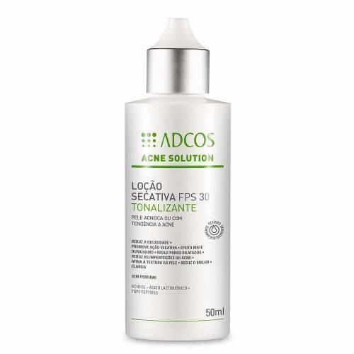 Adcos Acne Solution Loção Fps30 Secativa Tonalizante 50ml