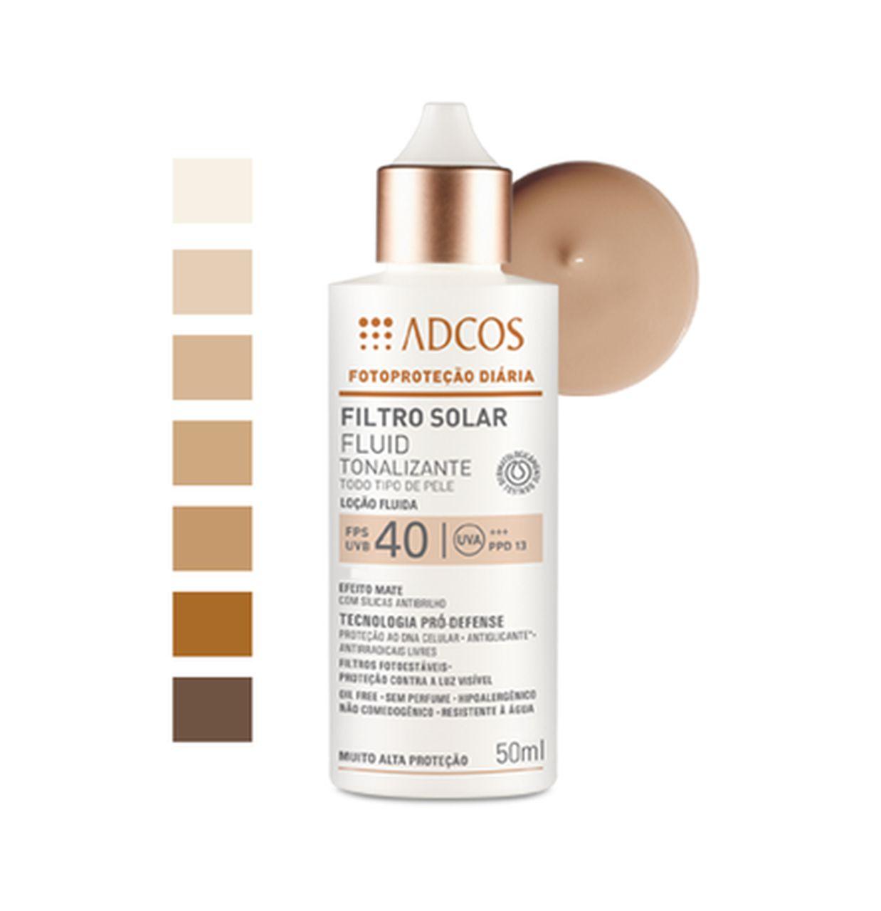 Adcos Filtro Solar Fluid Tonalizante Fps40 - 50ml
