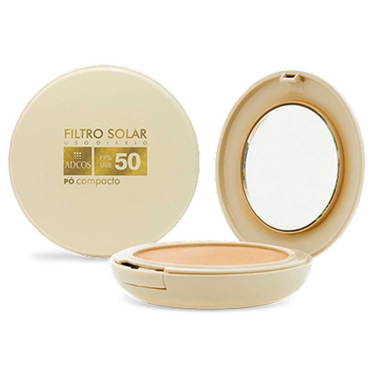 Adcos Filtro Solar Tonalizante Pó Compacto FPS 50 - 11g