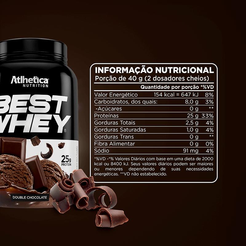 Best Whey (900g) Atlhetica DOUBLE CHOCOLATE