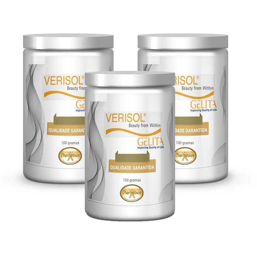 Colágeno Hidrolisado Verisol Puro - Kit c/ 3 Potes 100g