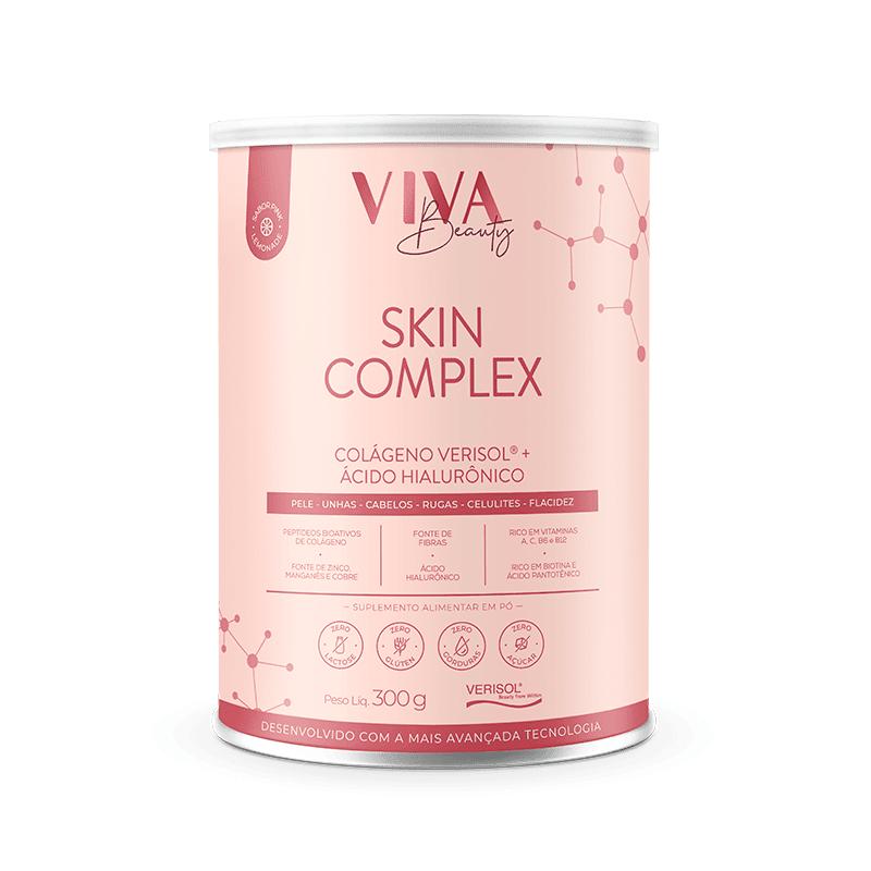 Colágeno Skyn Complex 6 Em 1 Viva Beauty com Verisol e Ácido Hialurônico