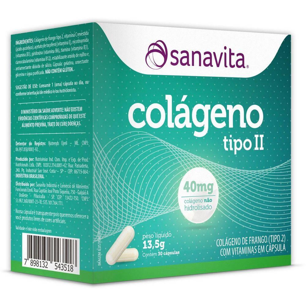 Colágeno Tipo 2 - 30 Cápsulas Sanavita