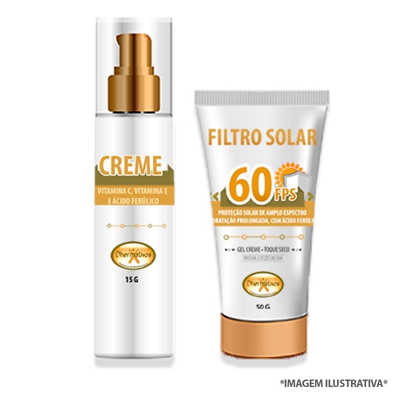 Complexo Booster Antioxidante Power - Antiaging Diário Vit C e Ac Ferúlico + Filtro Solar Antioxidante com Ac Ferúlico.