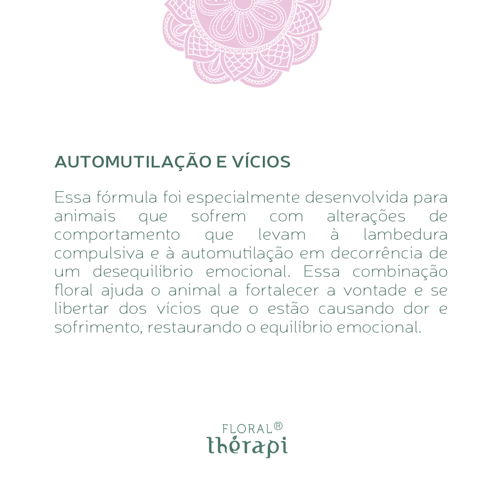 Floral Thérapi DIGNO (pets) Quantidade: 30mL Automutilação e Vícios