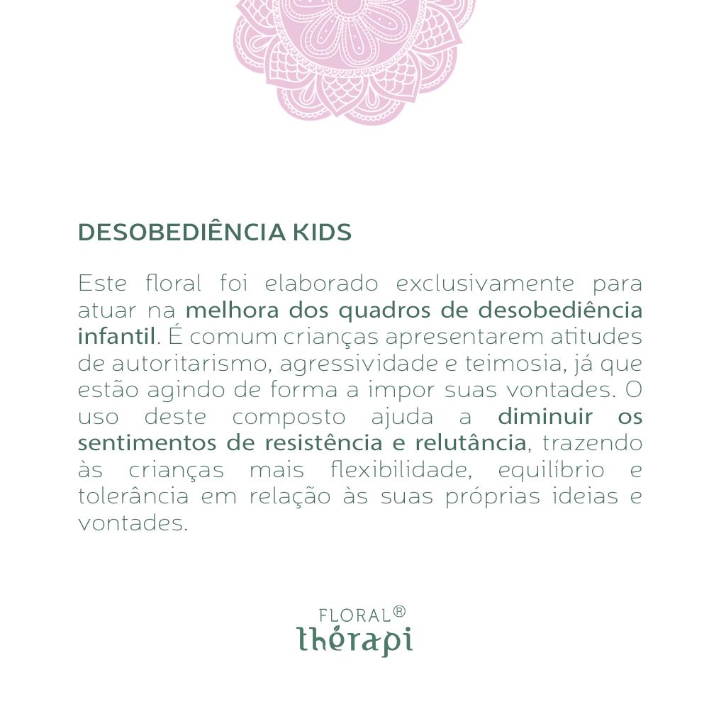 Floral Thérapi KIDS Quantidade: 30mL Desobediência