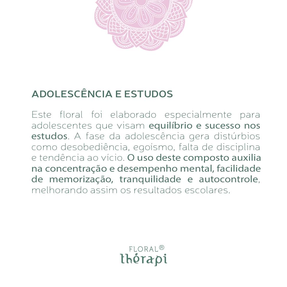 Floral Thérapi Quantidade: 30mL Adolescência e Estudos