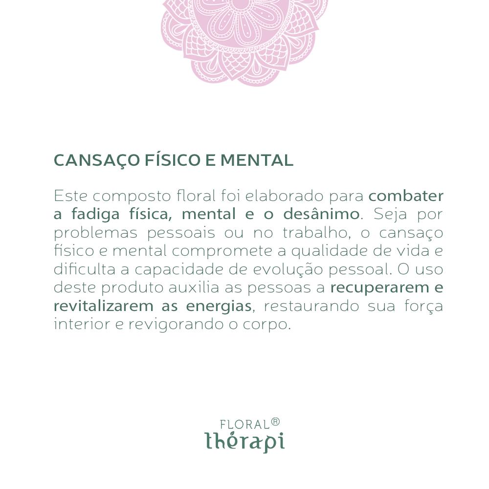 Floral Thérapi Quantidade: 30mL Cansaço Físico e Mental