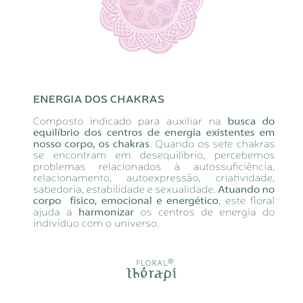 Floral Thérapi Quantidade: 30mL Energia dos Chakras