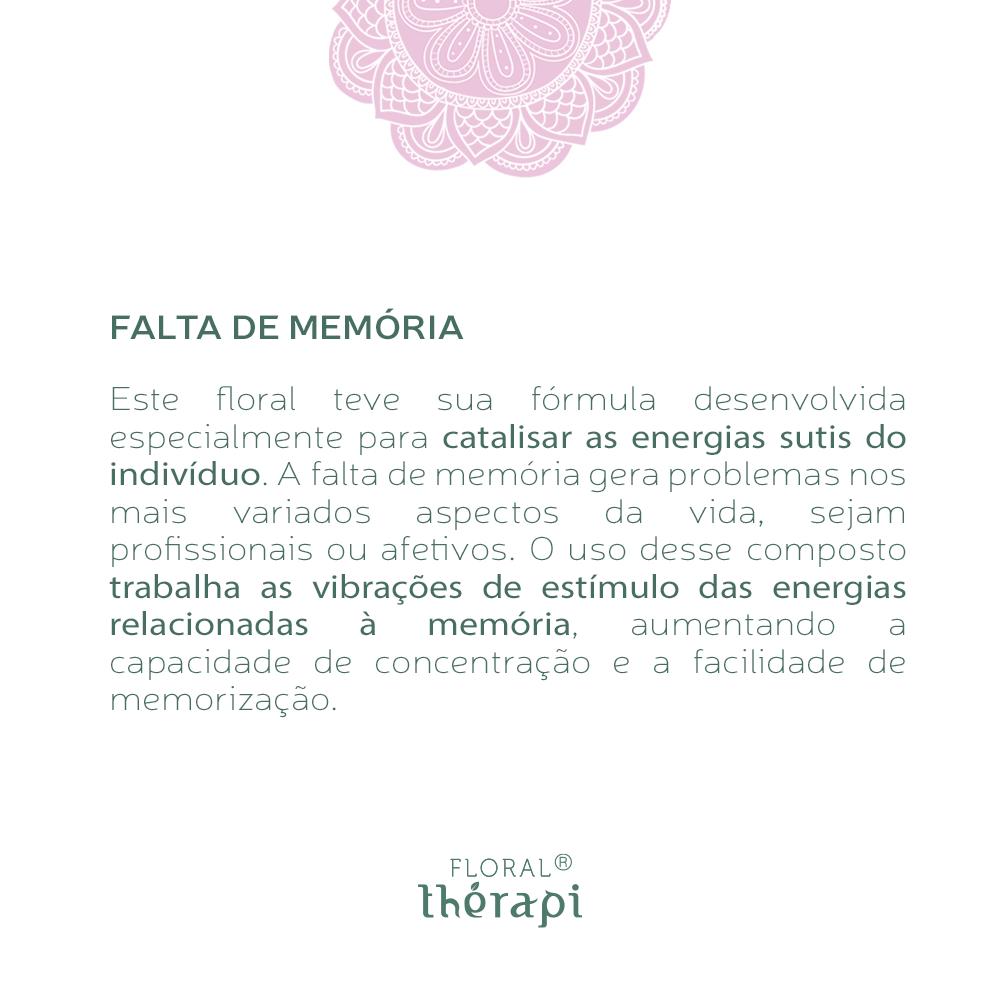Floral Thérapi Quantidade: 30mL Falta de Memória