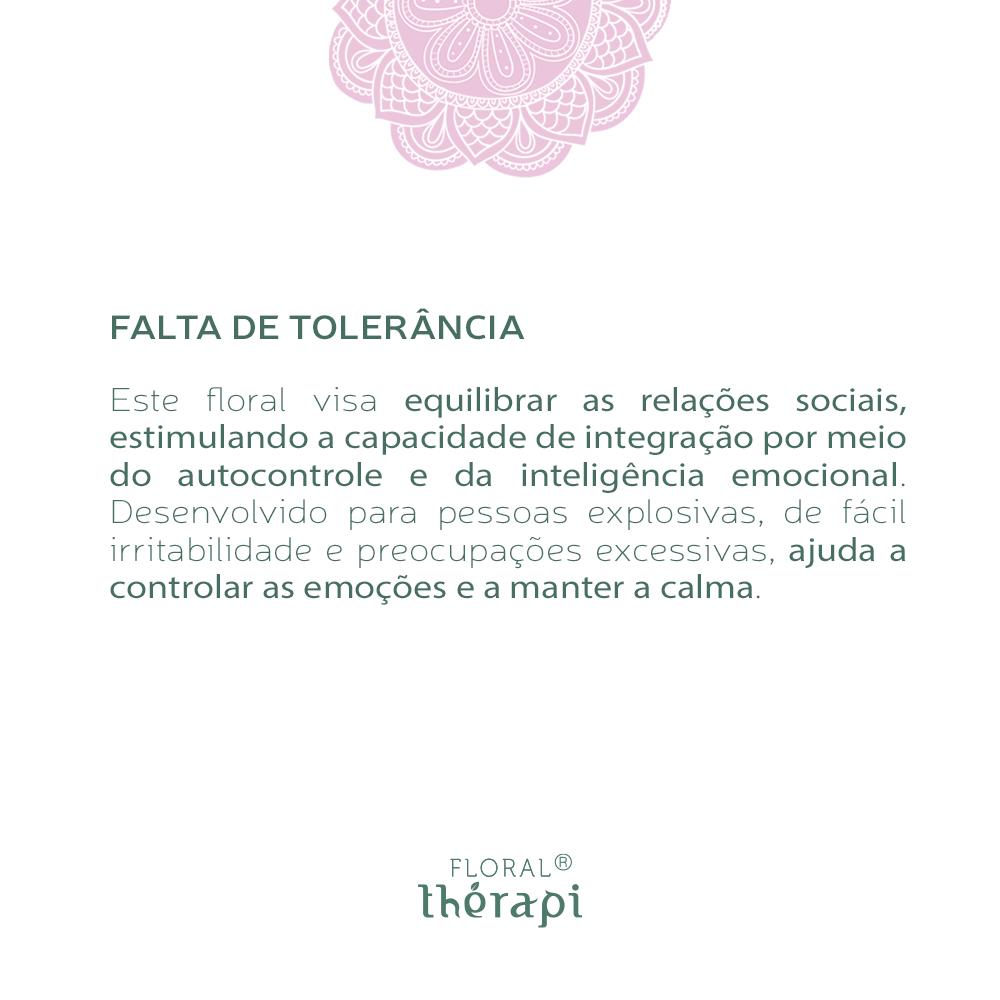 Floral Thérapi Quantidade: 30mL Falta de Tolerância