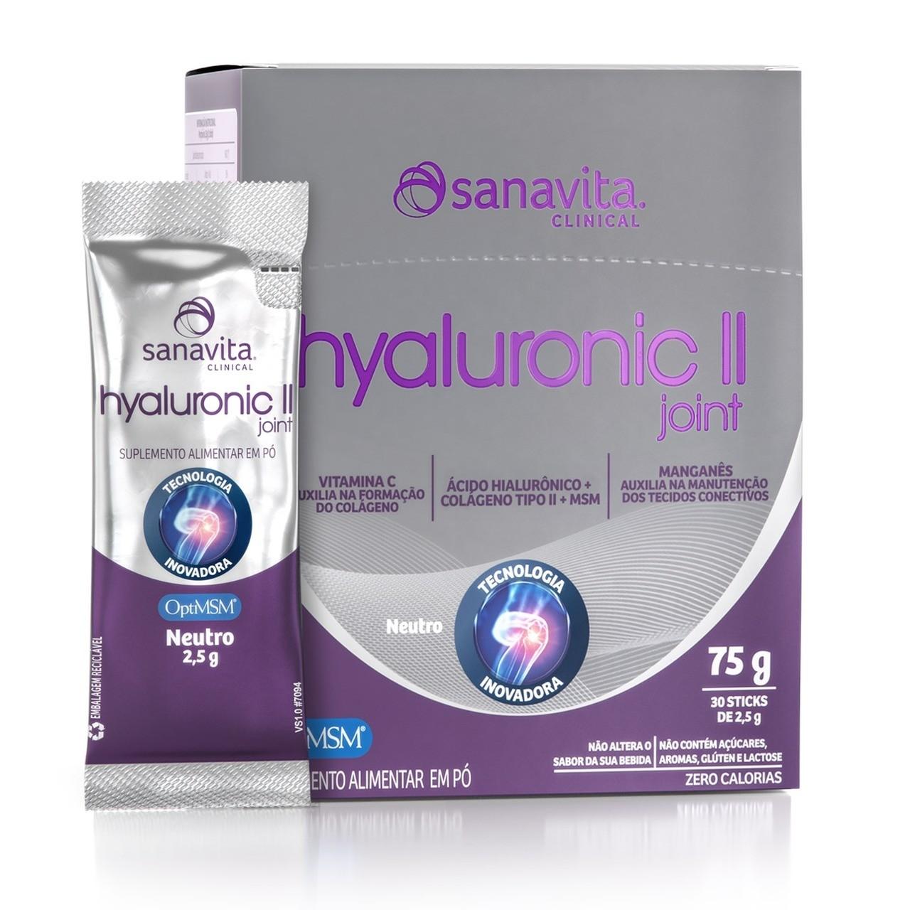 Hyaluronic ll Joint Sanavita - 30 Sticks