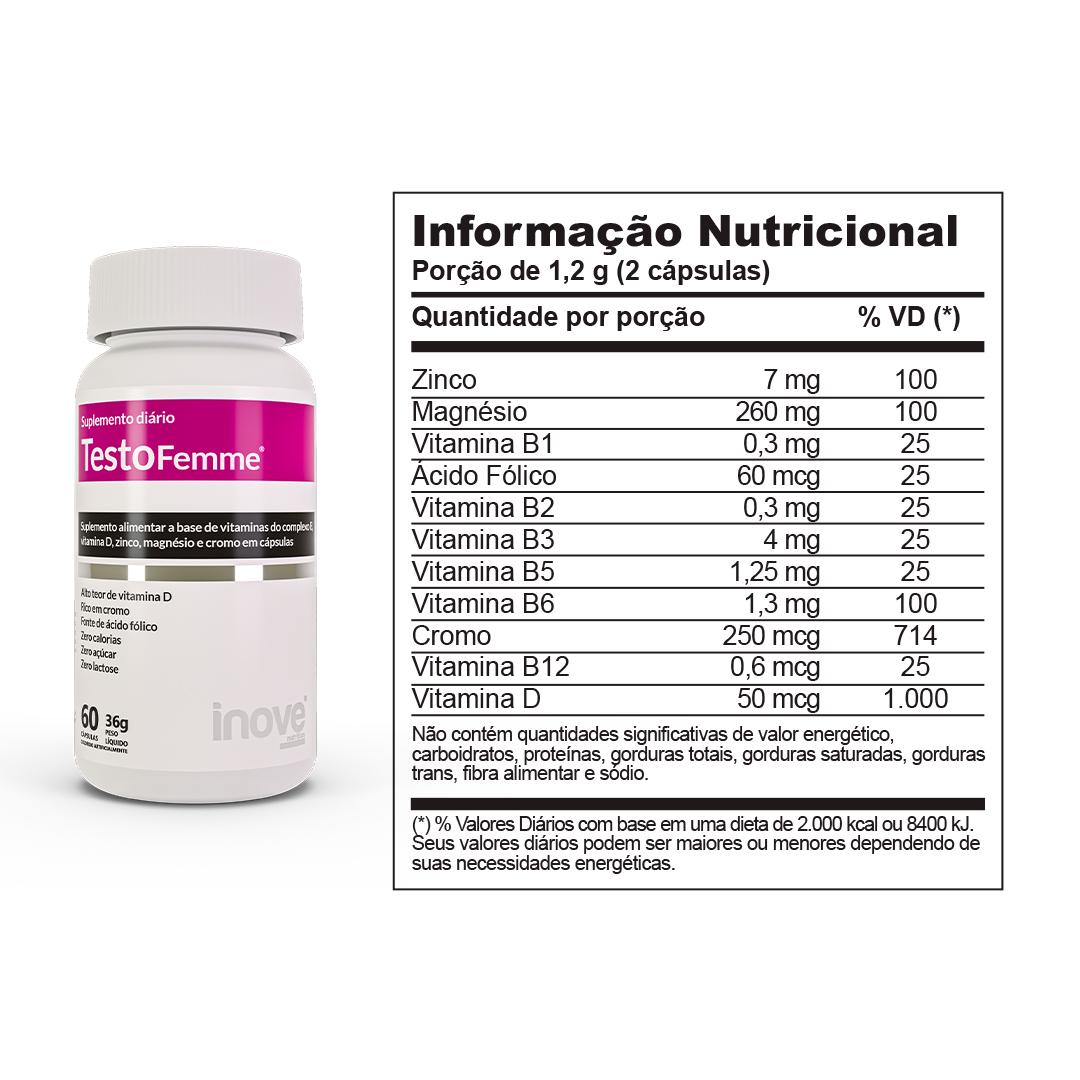 Kit Testofemme Fórmula Feminina ? Inove Nutrition - 2 potes c/ 60 cápsulas cada