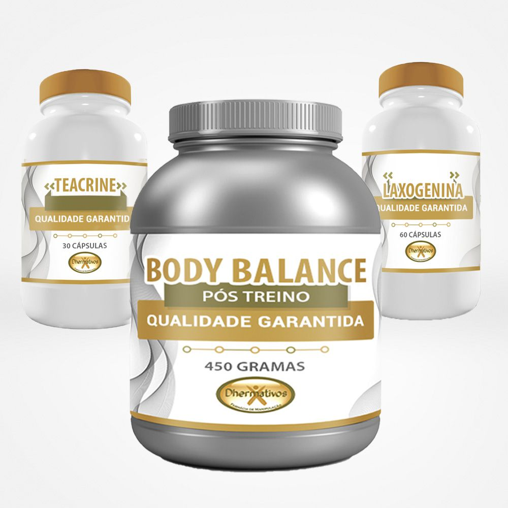 Kit Hipertrofia (Body Balance, Laxogenina e Teacrine)