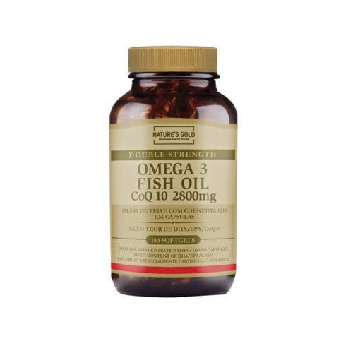 Ômega 3 com Coenzima Q10 2800mg 180 Cápsulas Fish Oil CoQ10 Nature's Gold
