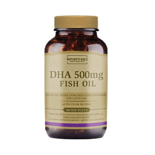 Ômega 3 DHA 500MG FISH OIL 180 cápsulas Nature's Gold