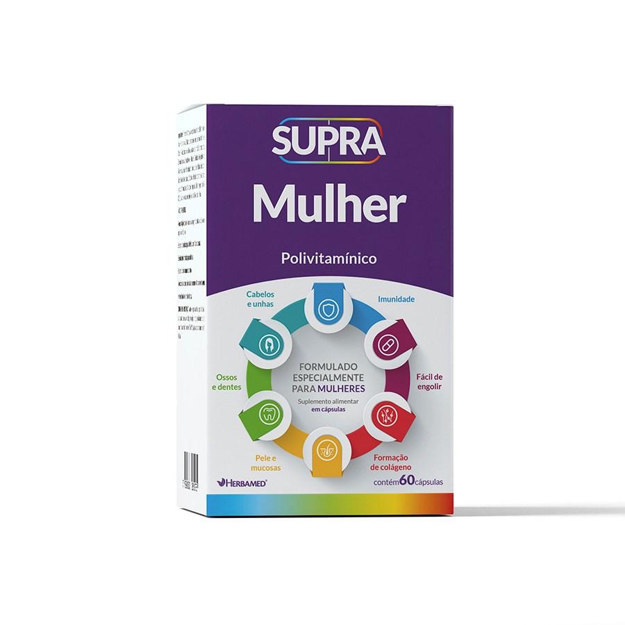 Supra Mulher Polivitamínico 60 Cápsulas - Herbamed
