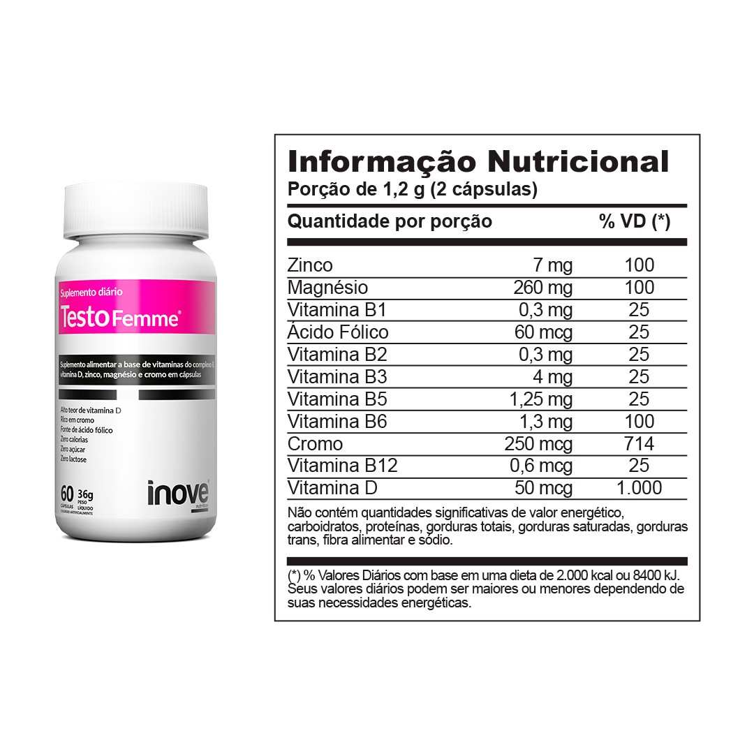 Testofemme Inove Nutrition 60 caps