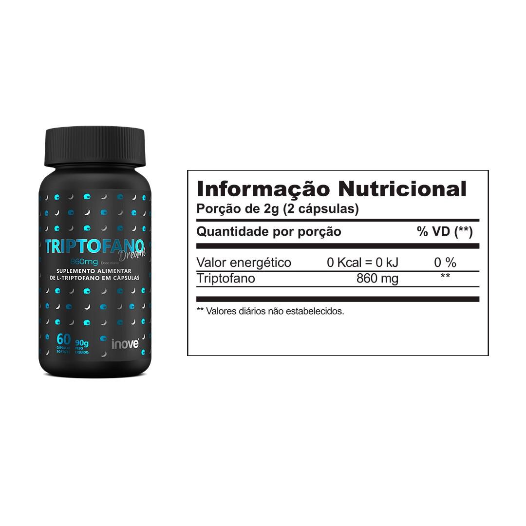 Triptofano Dreams 860 mg Inove Nutrition 60 caps.