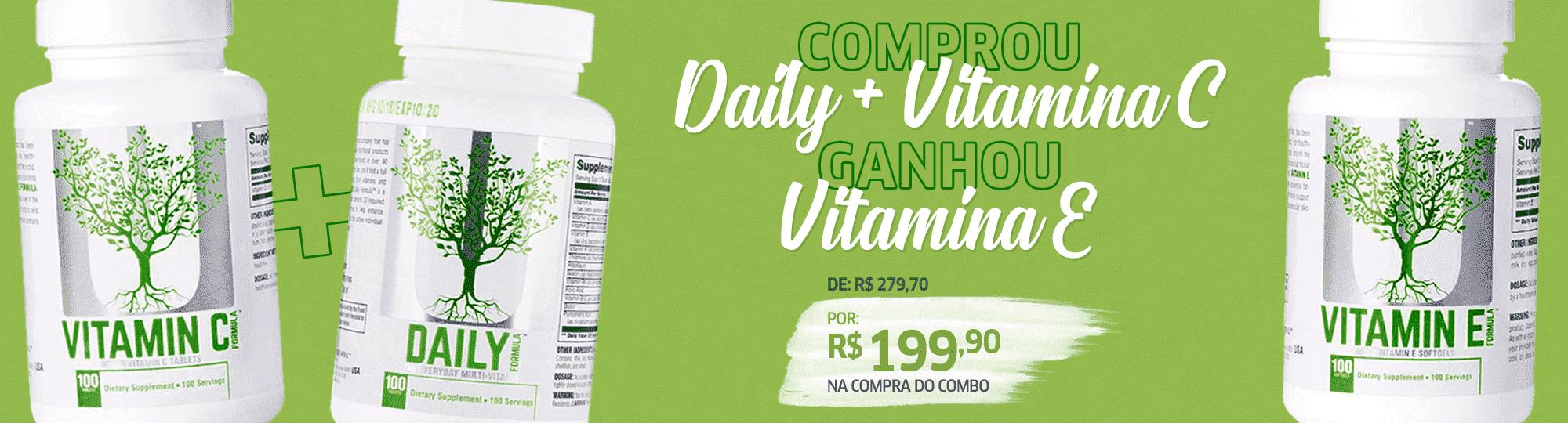 Compre um Daily Formula e uma Vitamina C e GANHE uma Vitamina E!