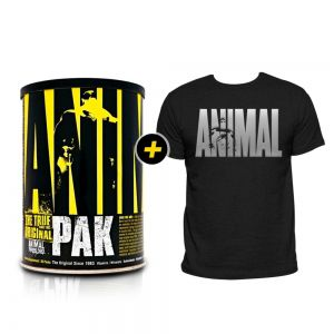 Animal Pak - 30 packs + Camiseta Animal Prata