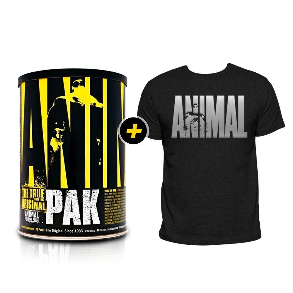 Animal Pak - 30 packs + Camiseta Animal Prata