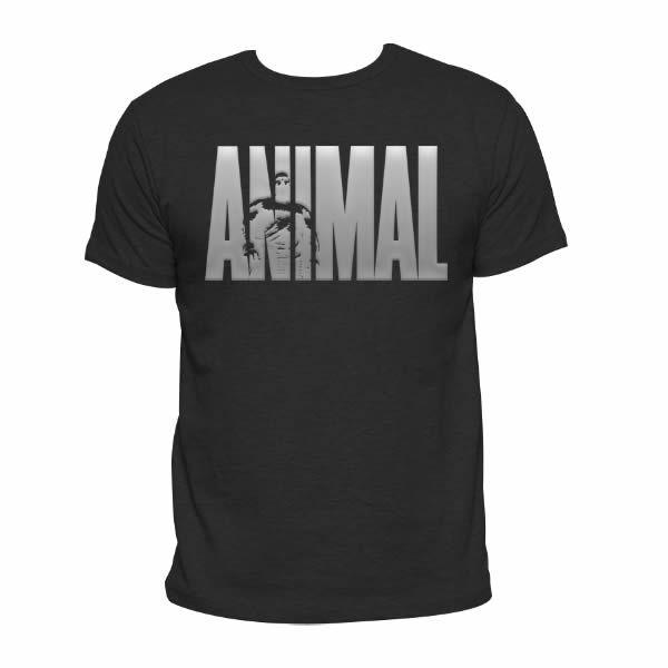 Camiseta Animal Preta - Logo Prateado