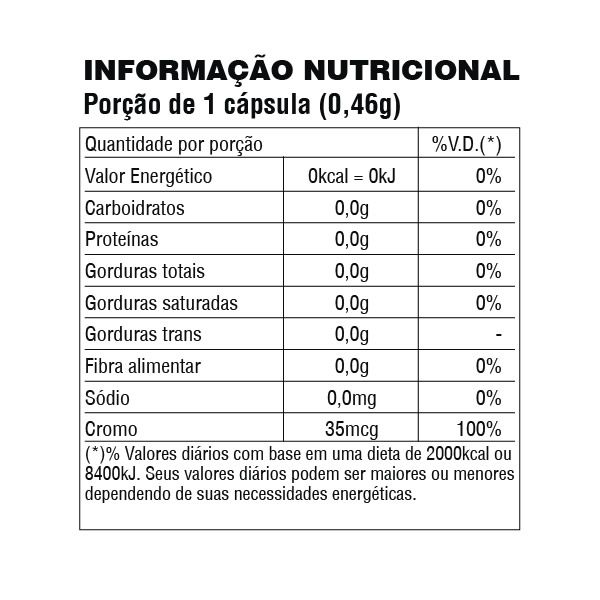 Chromium Picolinate - 100 cápsulas