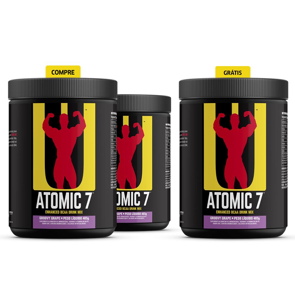 Compre 2 e leve 3! Atomic 7 - BCAA + Glutamina + Taurina + Vitamina B6