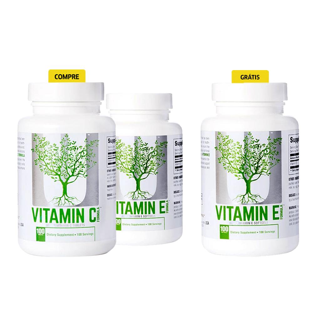 Compre 2 e leve 3! Combo Vitamina C + Vitamina E + OUTRA VITAMINA E (GRÁTIS)