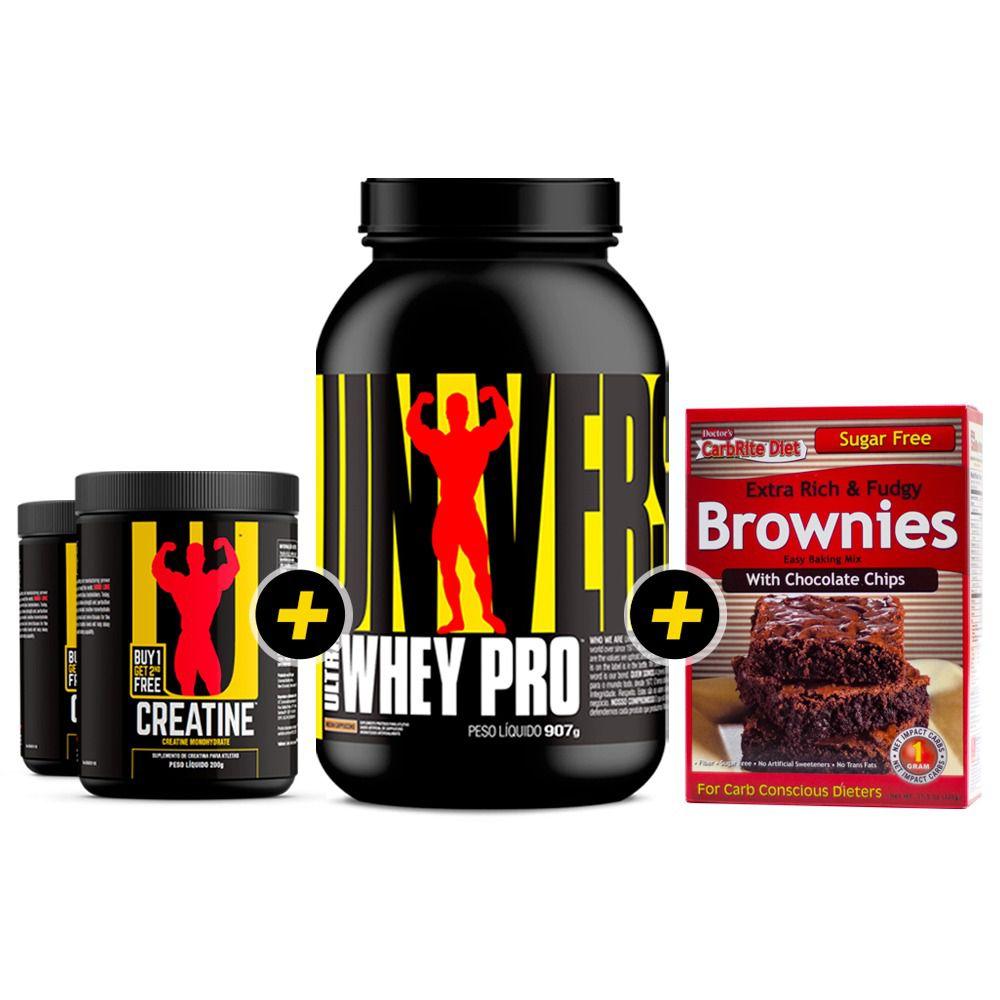 Creatina Combo + Ultra Whey Pro + Brownie GRÁTIS!