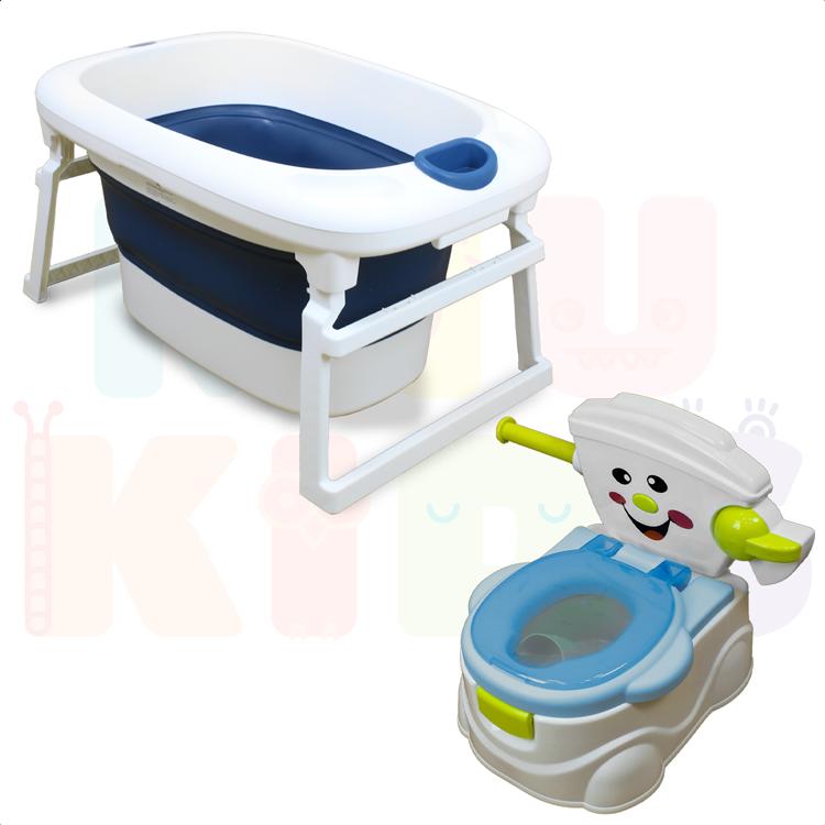 Kit Banheira Ofurô Luxo Infantil + Troninho Smile Para Desfralde