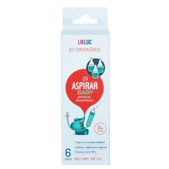 Ponteiras Conveniência para Aspirar Baby LIKLUC – Kit 6 un.