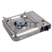 Fogareiro Horizontal NTK CHEFF (Flex Fuel compatível com cartucho de gás e botijão de gás e com acendedor automático)