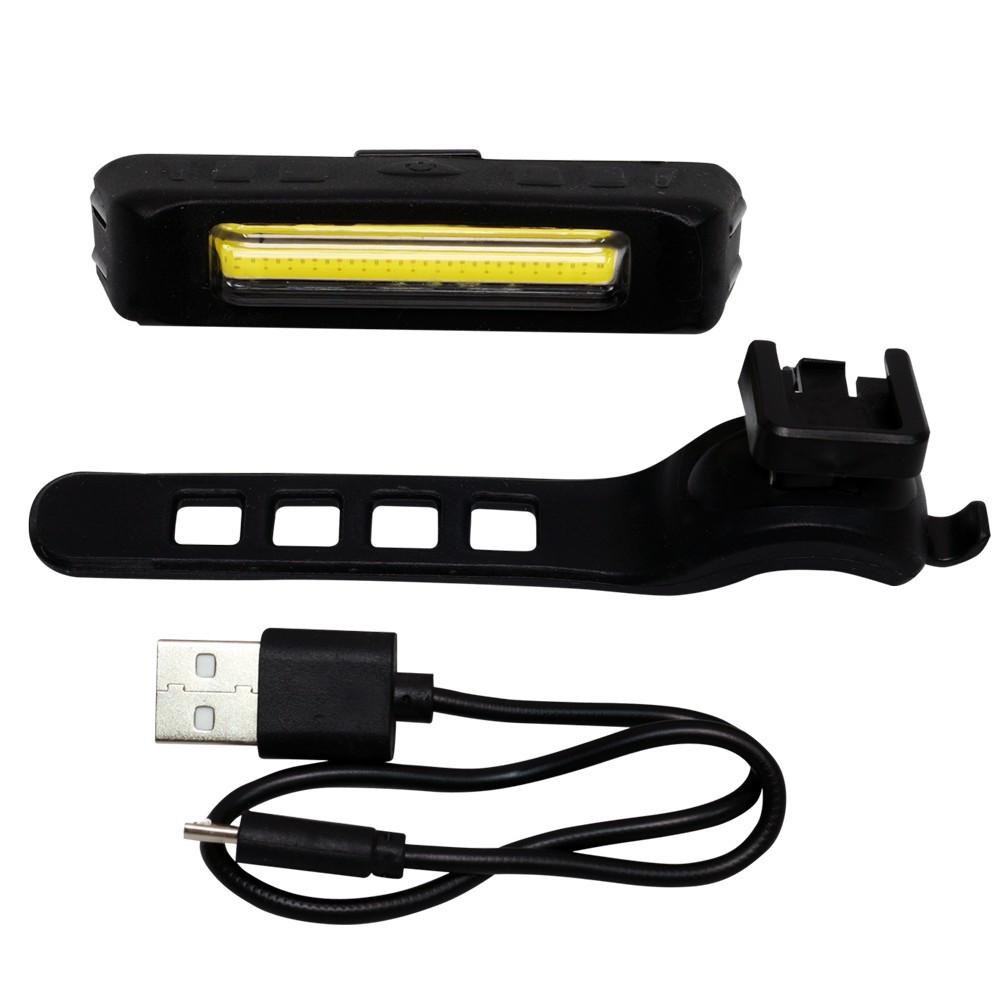 Lanterna de Bike Azteq APUS (recarregável via USB e acompanha suporte para prender no canote ou guidon da bike)
