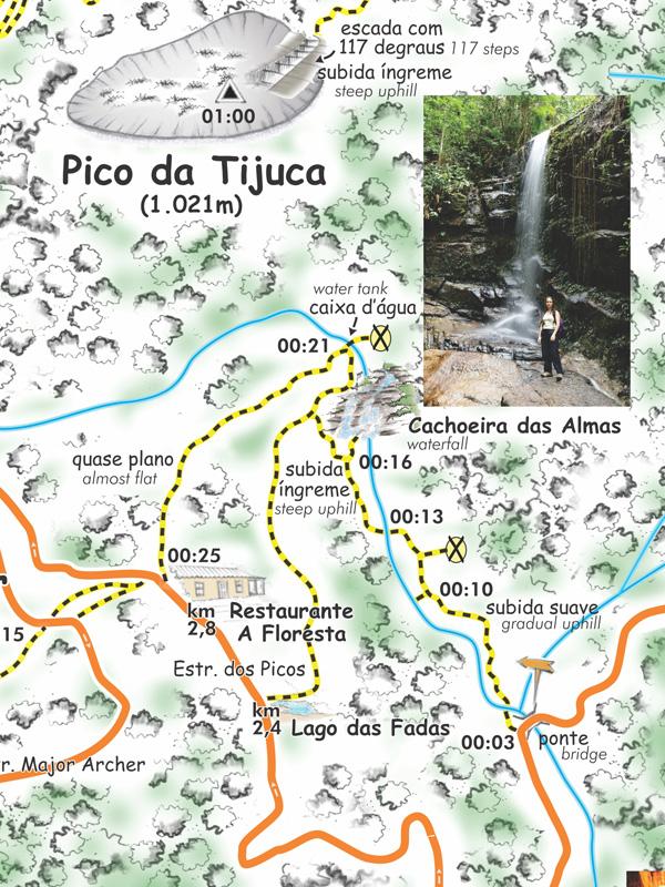 Mapa das Trilhas do Maciço da Tijuca