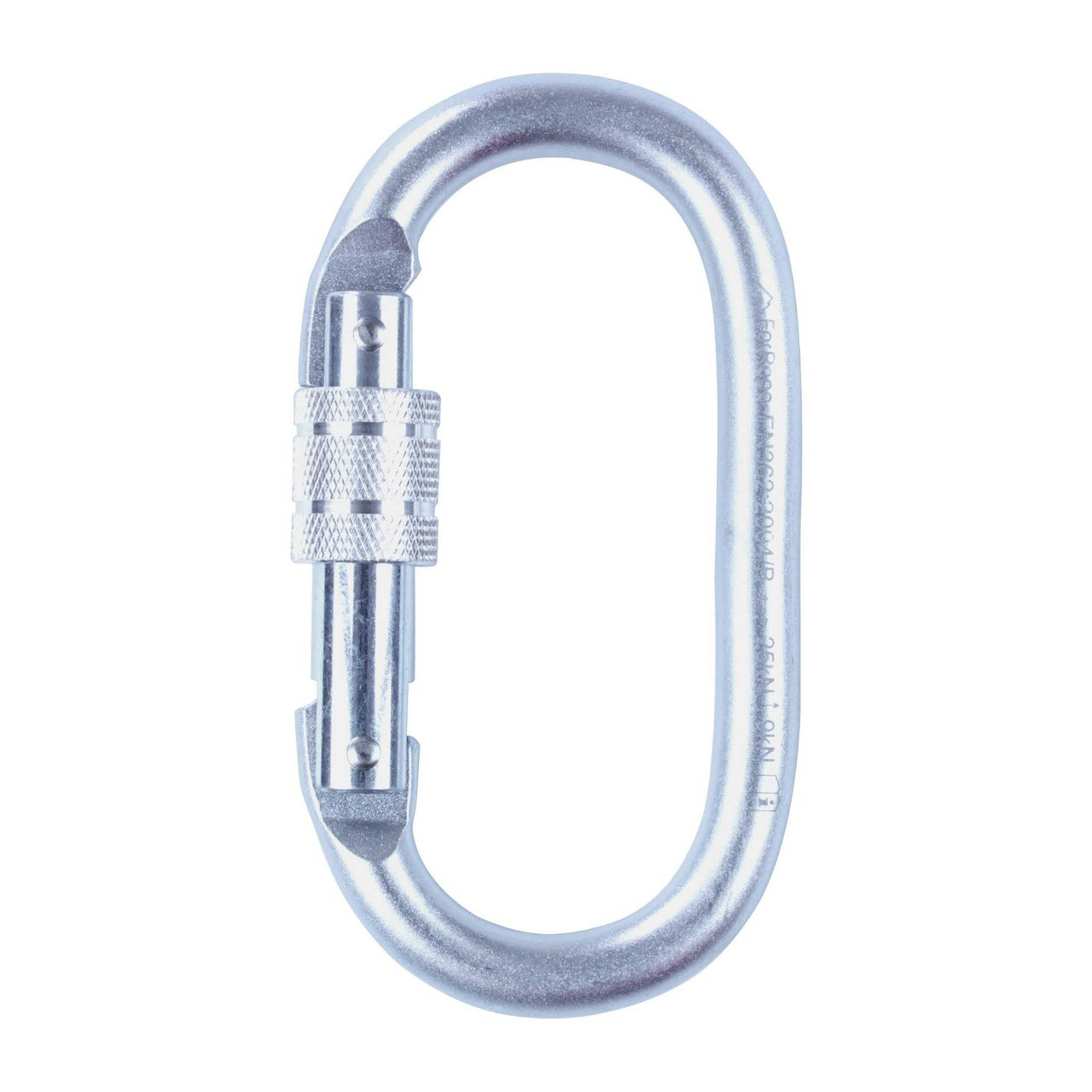 Mosquetão Aço Oval Trava Rosca 25KN (CE EN) - FOR ROPE
