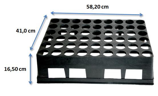 Bandeja para mudas - 54 células - Pacote